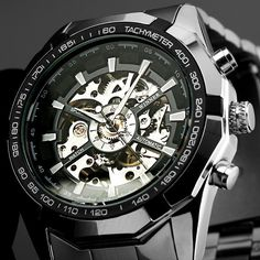 awesome New Males's Skeleton Stainless Metal Computerized Mechanical Sport Wrist Watch Silver   Check more at http://harmonisproduction.com/new-maless-skeleton-stainless-metal-computerized-mechanical-sport-wrist-watch-silver/