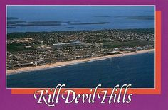 Kill Devil Hills, Outer Banks, NC postcard [kind of ugly, no?]