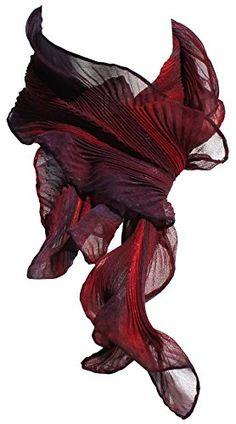 ArtisanStreet's Arashi Shibori Silk Chiffon Scarf Shortie in Red & Purple Shades Of Burgundy, Burgundy And Gold, Burgundy Wine, Burgundy Color, Red Purple, Marsala, Chiffon Scarf, Silk Chiffon, Fig Wine