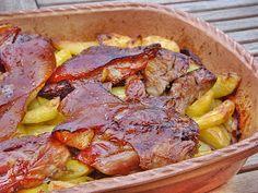 Pasta Salad Recipes, Meat Recipes, Cooking Recipes, Tzatziki Sauce, Ital Food, Breakfast Potato Casserole, Greek Salad Pasta, Feta, Hungarian Recipes