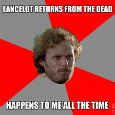 I swear he died like three times in one season and just like kept appearing all over the place...
