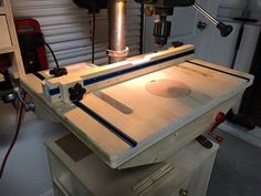 Drill Press Table with a twist