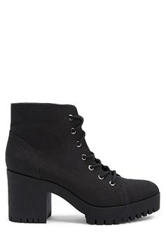 8153308d9c65 Canvas Lug Combat Booties | Forever 21 F21, All Black Sneakers, High Top  Sneakers