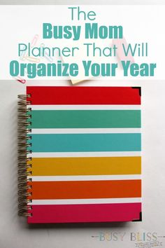 The Busy Mom Planner That Will Organize Your Year - Busy Bliss Mom Planner, Hourly Planner, Planner Pages, Printable Planner, Planner Ideas, Happy Planner, Printables, Best Planners, Personal Planners
