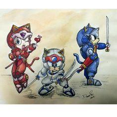 Los gatos Samurai