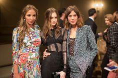 Harley Viera Newton, Laura Love, and Alexa Chung in Chanel