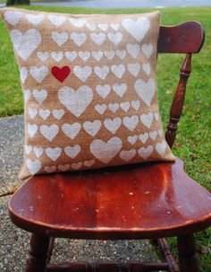 DIY Pottery Barn Knockoff Heart Pillow :: Hometalk