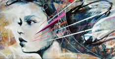 Time will tell - Abstract Portrait Paintings by Danny O'Connor <3 <3