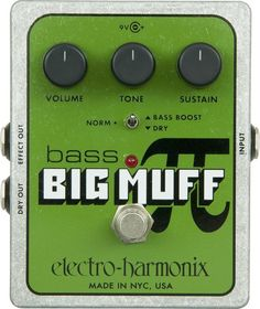 Hopefully soon ill have one of these ♡ Electro-Harmonix XO Bass Big Muff PI Distortion Effects Pedal