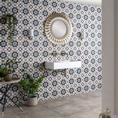 Trellis Marrakesh Tiles Patterned Kitchen Tiles, White Wall Tiles, Wall And Floor Tiles, Moroccan Colors, Moroccan Pattern, Wall Tile Adhesive, Tile Grout, Tiling, Patchwork Designs