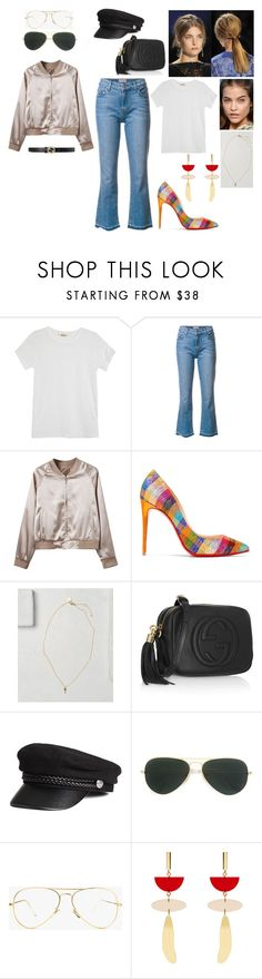 """""""out #114"""" by tynabrookler ❤ liked on Polyvore featuring Rolla's, Derek Lam, WithChic, Christian Louboutin, Gucci, Ray-Ban and Isabel Marant"""