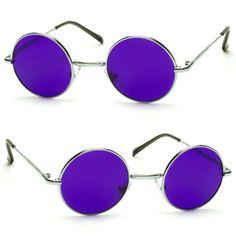 Classico-Vintage-Lennon-John-circulo-redondo-oculos-de-sol-homens-mulheres-Color-Purple-J