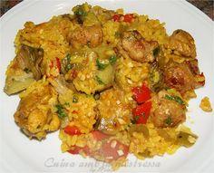 Cuina amb la mestressa: Paella de pollo butifarra y verduras