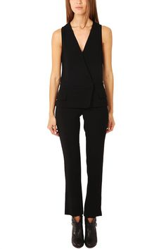 Pin for Later: 8 Interview Basics Every Girl Should Have in Her Wardrobe A Modest, Black Jumpsuit