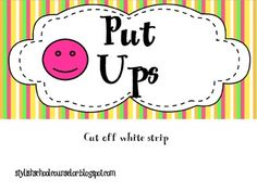 This activity will help students understand the difference between put ups and put downs and how they affect their self esteem. It is a great hands on activity that is ready to go. Just cut, laminate, cute again (lol), and it& ready to use! Respect Activities, Self Esteem Activities, Counseling Activities, Hands On Activities, School Counseling, Classroom Activities, Classroom Ideas, Teaching Tools, Teaching Kids