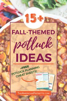 15+ Fun Fall Potluck Theme Ideas (with free potluck planning cheat sheets!)