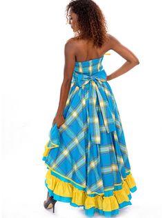 Robe Madras FEMME créole, antillais Laury en vente sur la boutique Dodyshop spécialisée dans la vente de vêtements traditionnels créoles. Une collection unique inspirée des traditions antillaises !
