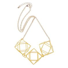 Yellow Dodecahedron Coated Collar Necklace
