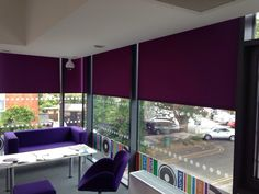 Roller Blinds installed at Cobham Library to reduce glare in the reading area