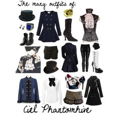 """The many outfits of Ciel Phantomhive"" by happilyrainbow on Polyvore"
