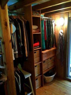 Decent closet in a tiny house: Neva Tiny House | Tiny House Swoon