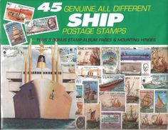 45 Genuine Postage Stamps Assortment - Ships by DOMAGRON. Save 55 Off!. $4.99. Perfect gift for the new collector. 45 Stamps from vaiours countries of assorted ships. Fits into any three-ring binder. Flexible layouts. Contains stamp mounting hinges. This kit contains three album pages which fit into any three-ring binder, mounting hinges, and 45 genuine postage stamps of various denominations and countries of origin45 Stamps from vaiours countries of assorted shipsContains stamp mounting… Three Ring Binders, Dealing With Stress, Stamp Collecting, Postage Stamps, Flexibility, Hobbies, Ships, Album, Country
