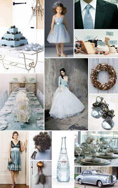 blue winter wedding by mandy