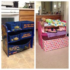 American Girl doll DIY bunkbed. Cute re-purpose. No link, just this photo.