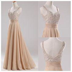 Elegant Sleeveless Long Beading Prom Dress, Bridesmaid dress,Evening Dress,Party Dress on Etsy, $139.99