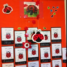 Eric Carle display The Grouchy Ladybug'