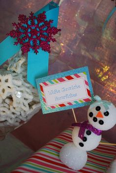 "Photo 1 of 31: Winter Wonderland, Snowman, Snowflake / Birthday ""Laila's Girly Snowman 2nd Birthday"" 