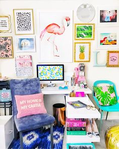 colorful home office inspiration.