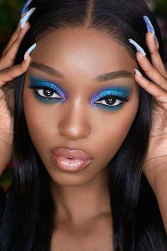 Brown Skin Makeup, Eye Makeup, Lily Lashes, Dark Skin Models, Latest Makeup Trends, Black Lashes, Brown Skin Girls, Professional Makeup Artist, Natural Lashes