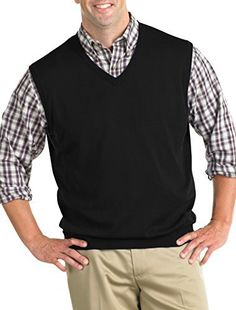 """Product review for Harbor Bay DXL Big and Tall V-Neck Sweater Vest.  Pop some color with this lightweight layer. V-neck for layering ease, ribbed-knit trim. Cotton. Machine wash. Imported.       Famous Words of Inspiration...""""It ain't over till it's over.""""   Yogi Berra — Click here for more from Yogi..."""