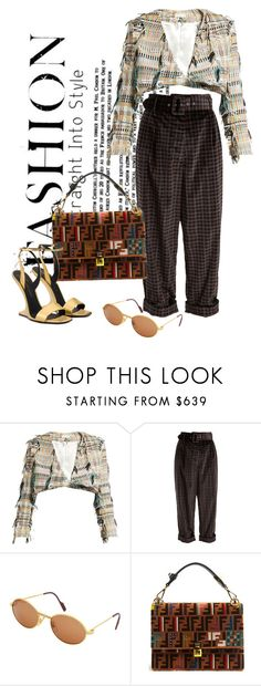 """BACK."" by vri0t ❤ liked on Polyvore featuring Carl Kapp, Isa Arfen, Cartier, Fendi and Picard"