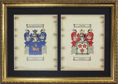 Double Coat of Arms Framed