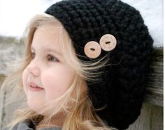 2 Crochet Patterns: The Beau Beret and Dot by NaturallyNoraCrochet