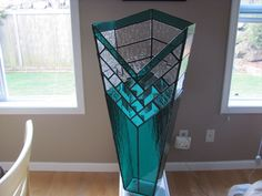Custom Made Stained Glass Decorative Vase