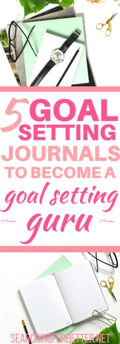 A goals journal is great for the ultimate life planner! Keep track of your life + fitness goals and find inspiration - these notebooks are perfect!