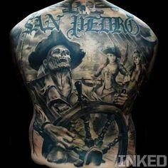 Pirates tattoo Back piece