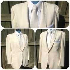 awesome vintage mens 1980's 90's cream/off white by bamapana, $75.00