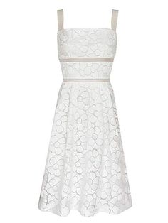 Floral embroidery organza a line dress