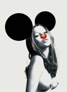 Kate Moss as Mickey Mouse, Brian Donnelly's aka KAWS cartoon world