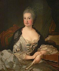 1752 J H Tischbein Kurfürstin Elisabeth Auguste