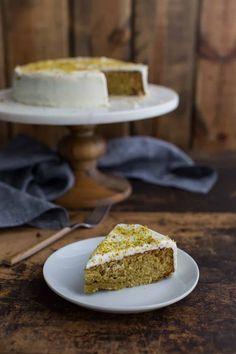 Pistachio Lemon Olive Oil Cake | @naturallyella