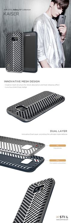 KAISER, The geometric dual layer design in a color balance of micro silver and…