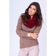Dámsky pletený sveter v kakaovej farbe - fashionday.eu Fashion, Moda, Fashion Styles, Fashion Illustrations