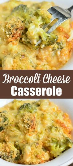Broccoli Cheese Casserole is one of the best side dishes ever created. It's a comforting, cheesy, and easily made with broccoli, cheese sauce, and buttery Panko topping. #sidedish #broccoli #cheesy #casserole #thanksgiving #holidaydinner