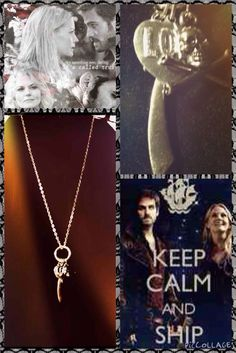 Once Upon A Time: Emma & Hook Silver Necklace! New!