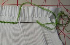 how to smock a Cable Stitch